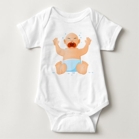 Baby Bodysuit with crying baby print