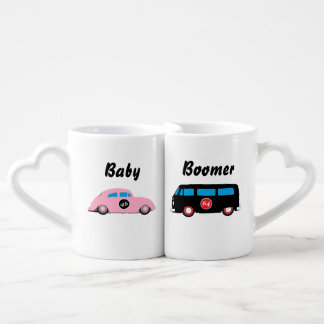 Baby Boomer his and her nesting cups