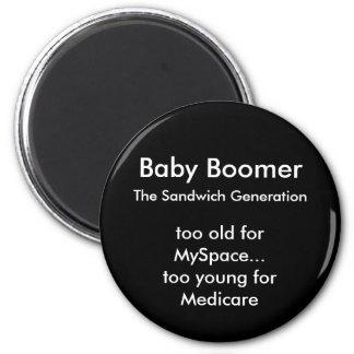 Baby Boomer Magnet - Round