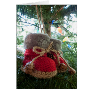 Baby Boots Ornament Card