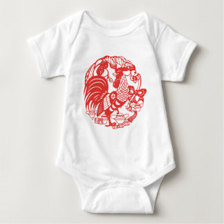 Baby born in Rooster Year 2017 Baby bodysuit