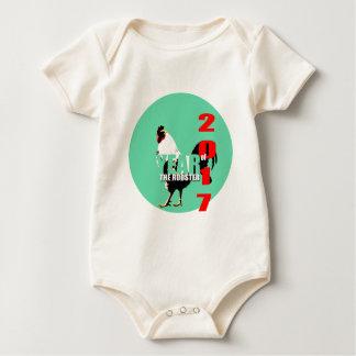 Baby born in Rooster Year 2017 babysuit Baby Bodysuit