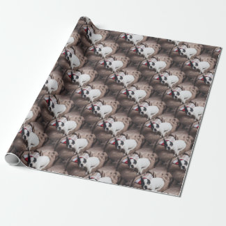 Baby Boston Bull Christmas Wrappings Wrapping Paper