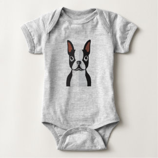 Baby Boston Terrier Jersey Bodysuit