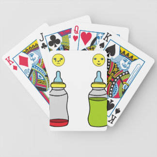 baby bottle bicycle playing cards
