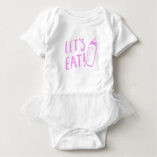 Baby Bottle T-shirt Design for Girls