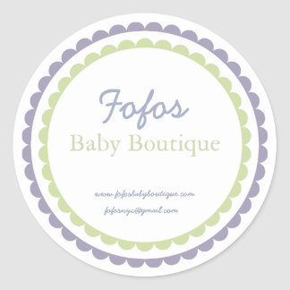 Baby Boutique Fashion Label/Sticker Round Sticker