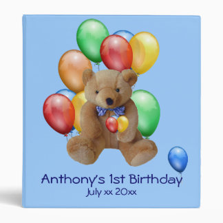 Baby Boy 1st Birthday Photo Album Binders