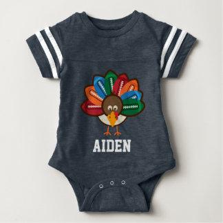 Baby Boy 1st Thanksgiving Football Turkey bodysuit