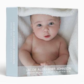 Baby BOY 1st year ALBUM KEEPSAKE Blue   Add PHOTO 3 Ring Binders