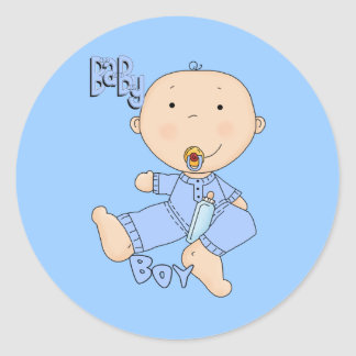 Baby Boy All Products Round Sticker