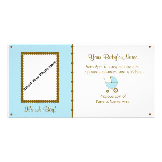 Baby boy Announcement Photo Cards