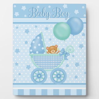 Baby Boy Art Easel Plaque