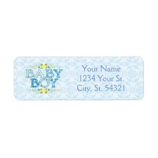 Baby Boy, Baby Shower Address Labels