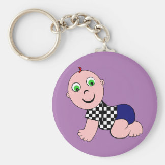 Baby Boy Bald Keychain