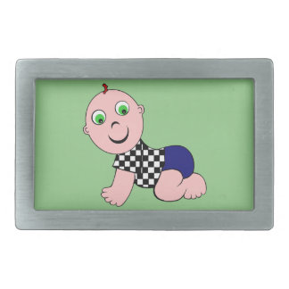 Baby Boy Bald Rectangular Belt Buckle