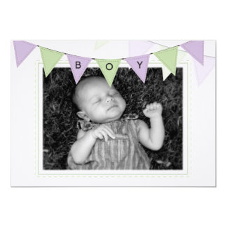 Baby Boy Banner Flags Birth Photo Announcement