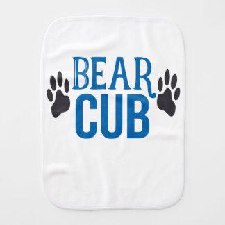 Baby Boy Bear Cub Burp Cloth