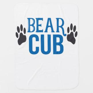 Baby Boy Bear Cub Paw Print Baby Blanket