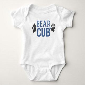 Baby Boy Bear Cub Paw Print White Outfit Baby Bodysuit