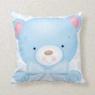 Baby Boy Bear Square Pillow