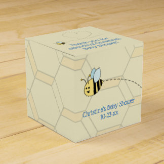 Baby Boy Bee Favour Box
