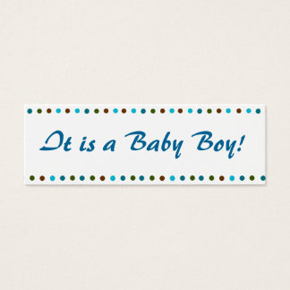 Baby Boy Birth Announcement Mini Business Card