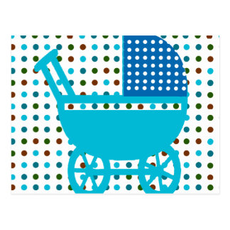 Baby BOY BLUE  Carriage Design Hip Gifts Postcard