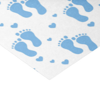 Baby boy blue feet tissue paper