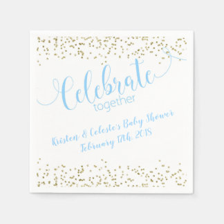 Baby Boy Blue & Gold joint friends celebration Disposable Napkin