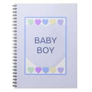 Baby Boy Blue Hearts Notebook