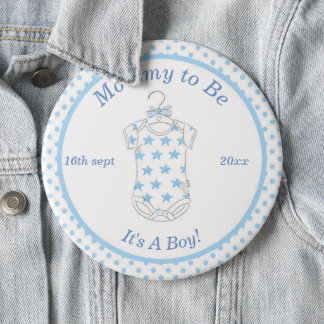 Baby Boy Blue Mommy to Be Button