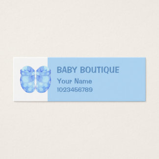 Baby Boy Booties small Business Card