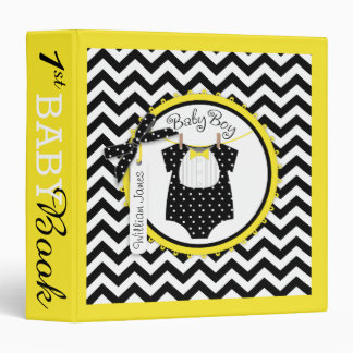 Baby Boy Bow Tie Memory Book Album 3 Ring Binder