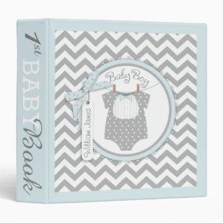 Baby Boy Bow Tie Memory Book Album 3 Ring Binders