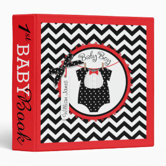 Baby Boy Bow Tie Memory Book Album Vinyl Binder