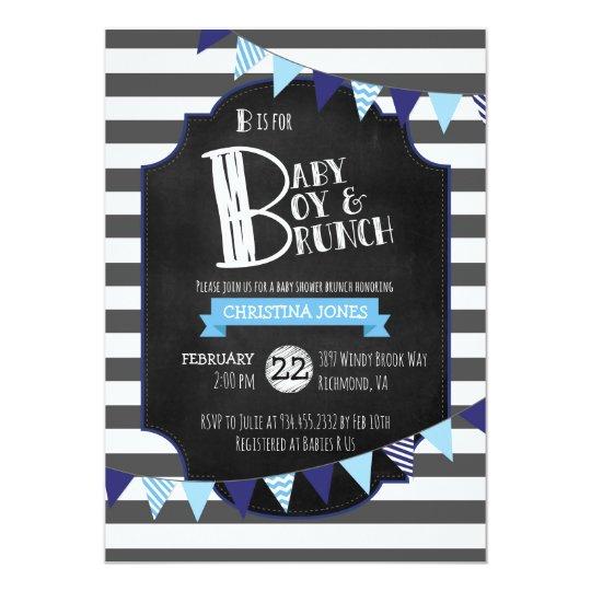 Baby Boy & Brunch Baby Shower Invitation
