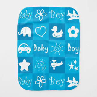 Baby boy burp cloth