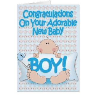New Born Baby Boy Cards, New Born Baby Boy Greeting Cards, New Born Baby Boy Greetings