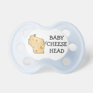 Baby Boy Cheesehead Wisconsin Humor Blue Pacifier