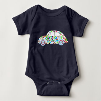 Baby Boy Cool Hippie Car bodysuit
