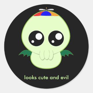 Baby Boy Cthulhu Classic Round Sticker