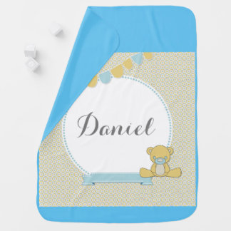 Baby boy customizable baby blanket
