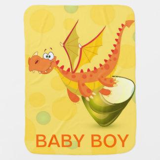 Baby Boy Dragon Blankie Stroller Blanket