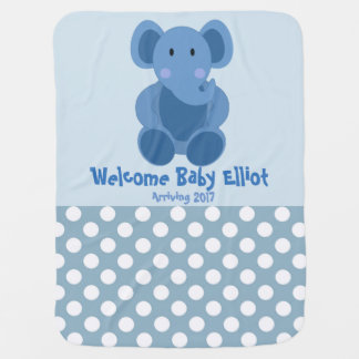 Baby Boy Elephant Blanket Swaddle Blanket