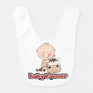 Baby Boy Farmer With Cow Bib
