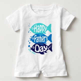 Baby Boy Fathers day Romper with Fish