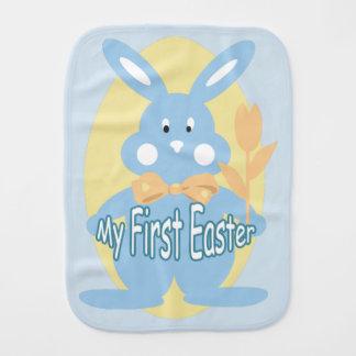 Baby Boy First Easter Bunny Burp Cloth