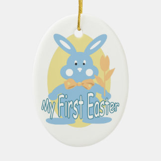 Baby Boy First Easter Bunny Ornament
