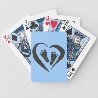 baby boy foot prints deck of cards